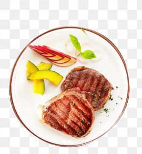 Fresh Plate Dish Barbecue Material - Barbecue Roast Beef Beefsteak Beef Tenderloin Garnish PNG
