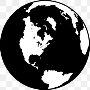 Earth Black And White - Globe Black And White World Clip Art PNG