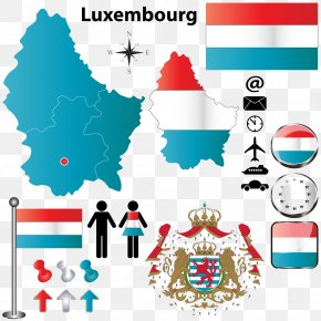 Flag Of Luxembourg Map Photos - Luxembourg City Clip Art PNG