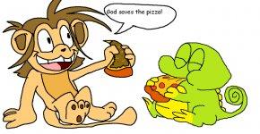 Cartoon Eating Pizza - Pizza Steve Picnic Clip Art PNG