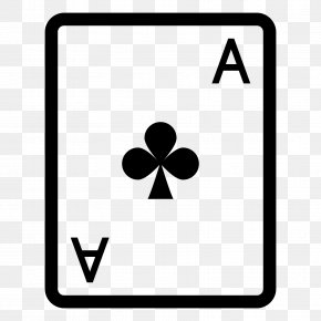 Ace Of Clubs - Ace Of Spades As De Trèfle Playing Card PNG