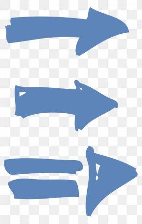 Blue Arrow Cartoon - Arrow Euclidean Vector PNG