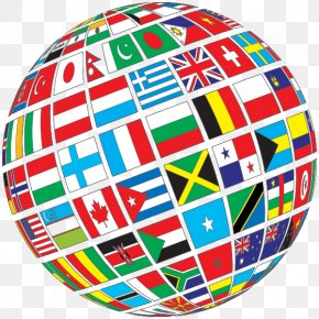 With Flags - Globe Flags Of The World World Map PNG