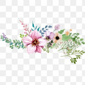 Hand Painted Watercolor Flower Decoration Pattern - Flower PNG