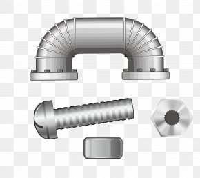 Vector Tool Screw Nut - Stainless Steel Pipe PNG