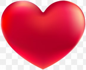 Red Heart Clipart Image - Red Easter Egg Heart Clip Art PNG