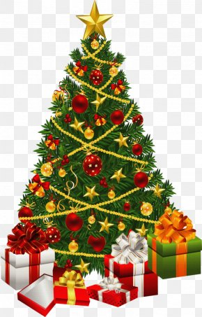 Christmas - Christmas Tree Christmas Decoration Gift Clip Art PNG