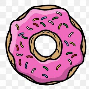 Donut - Doughnut Cartoon Icing Sprinkles PNG