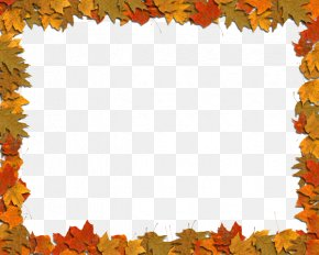 Maple Autumn Leaves Frame Material - Autumn Leaf Color Clip Art PNG
