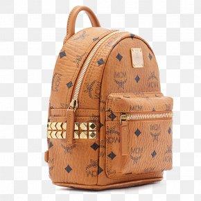 Backpack Leather Bag Handbags - MCM Worldwide Backpack Leather Handbag PNG