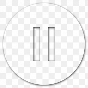 Pause Button HD - Circle Area White Angle Point PNG