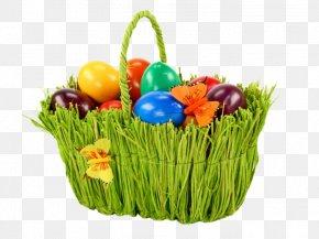 Easter Basket - Easter Bunny Cupcake Egg In The Basket Easter Egg PNG