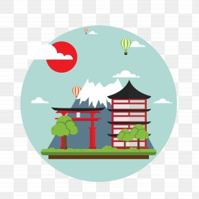 Japan Map Vector Scenery - Mount Fuji Clip Art PNG