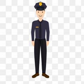 Male Police Career Planning - Police Officer Flat Design PNG