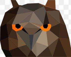 Low Poly - Owl Bird Low Poly Clip Art PNG