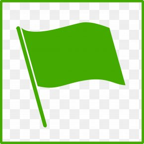Green Flags Icon - Flag Pictogram Clip Art PNG
