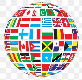 WORLD - Globe Flags Of The World Clip Art PNG