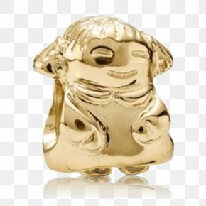 Gold - Gold Pandora Jewellery Charm Bracelet Earring PNG