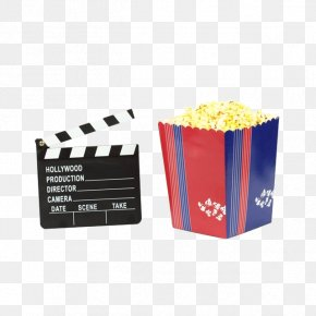 This Card And Popcorn - Film Director Clapperboard Directors Chair Scene PNG