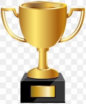 Golden Cup Clip Art Image - Trophy Medal Clip Art PNG