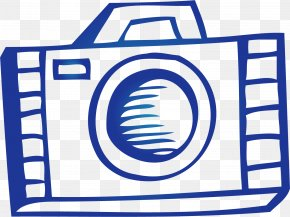 Hand Drawn Blue Camera - Camera Adobe Illustrator PNG