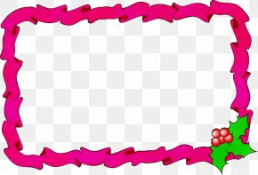 Picture Frame Pink - Christmas Picture Frame PNG
