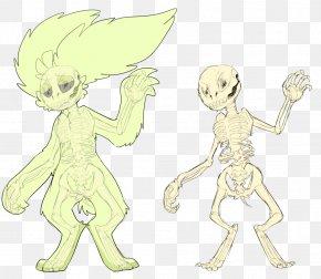 Scary Mushroom - Homo Sapiens Line Art Human Behavior Sketch PNG