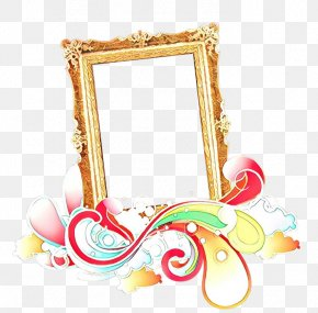 Interior Design Picture Frame - Watercolor Floral Frame PNG