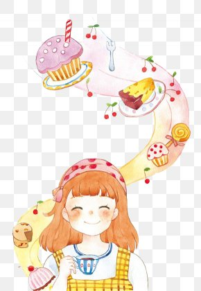 Cake - Watercolor Painting Drawing Cake Illustration PNG