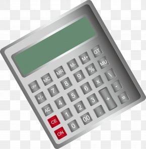 Gray Calculator Calculates Elements - Calculator Calculation PNG