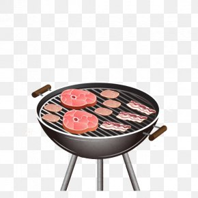 Barbecue Grill Element - Sausage Barbecue Steak Grilling PNG