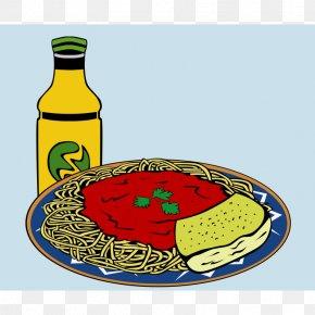 Fast Food Clipart - Pasta Spaghetti With Meatballs Italian Cuisine Marinara Sauce Garlic Bread PNG