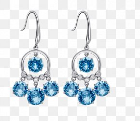 European And American Temperament Long Section Of Silver Earrings Ear Jewelry - Earring Silver Gemstone Designer PNG