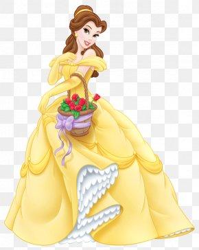Transparent Princess Belle Cartoon - Belle Beast Cinderella Ariel Princess Jasmine PNG