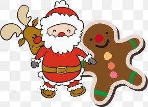 Santa Claus Christmas Vector Material - Rudolph Santa Claus Reindeer Christmas Tree PNG