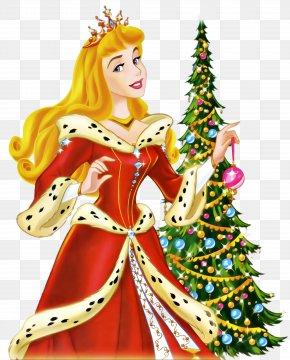 Princess Disney Christmas - Princess Aurora Belle Rapunzel Snow White Disney Princess PNG