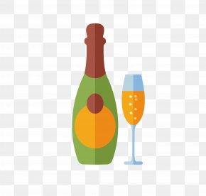 Champagne - Champagne Wine Glass Alcoholic Drink PNG