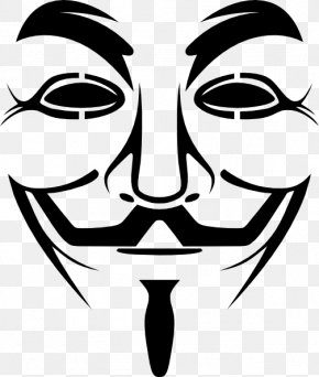 Mask - Guy Fawkes Mask Gunpowder Plot Clip Art PNG