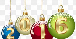 Happy New Year - Christmas Ornament Santa Claus Clip Art PNG