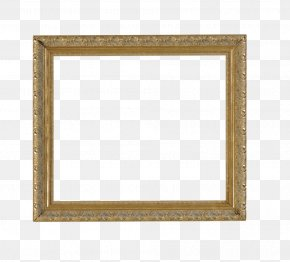 Gold Frame Picture Frame - Picture Frame Square Area Text Pattern PNG