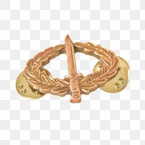 Royal Australian Artillery - Bronze Metal Name Tag Bracelet Gold PNG