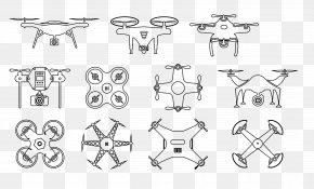 Flat UAV - Airplane Unmanned Aerial Vehicle Flat Design Illustration PNG