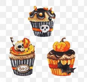 Halloween Cupcakes - Cupcake Halloween PNG