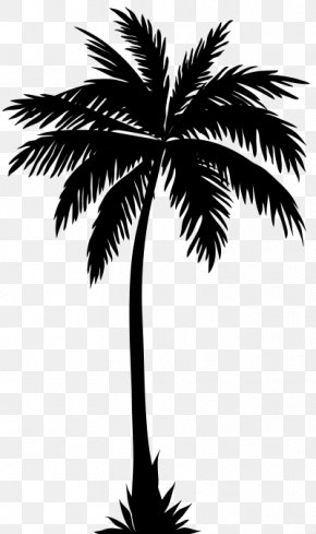 Retro Summer Palm Trees - Palm Trees Clip Art Silhouette Coconut PNG