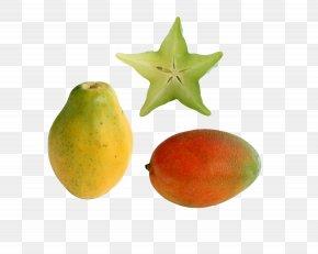 Papaya And Starfruit - Carambola Fruit Clip Art PNG