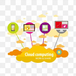 Cloud And Mobile Computers - Cloud Computing Cloud Storage Euclidean Vector PNG