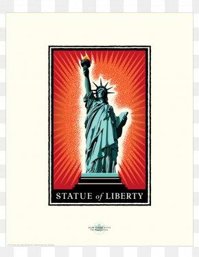 Statue Of Liberty - Statue Of Liberty Charging Bull Landmark Sculpture Art PNG