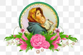 Child Jesus Holy Card Garden Roses Nativity Of Jesus Mother PNG