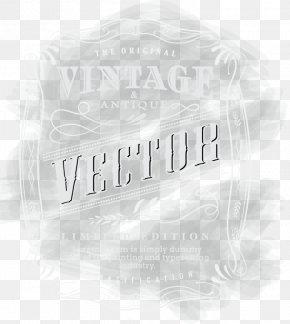 Vintage - Black And White Brand Logo Font PNG