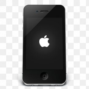 IPhone Black Apple - Gadget Mobile Phone Feature Phone PNG